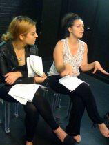 The wonderful Sonia Kamel in rehearsal