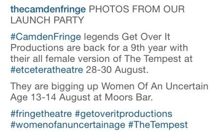 Camden Fringe Legends!